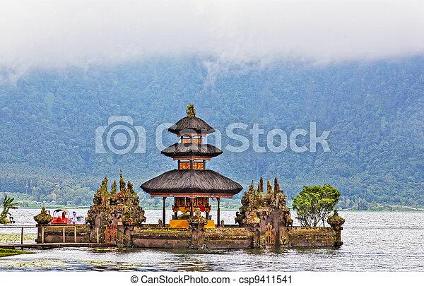 Ulun Danu temple Beratan Lake in Bali Indonesia - csp9411541