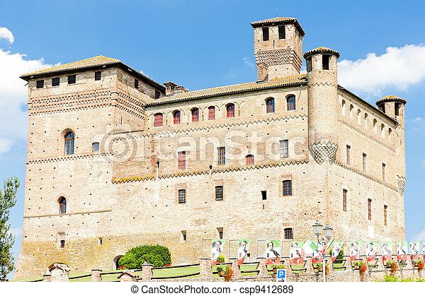Grinzane Cavour Castle, Piedmont, Italy - csp9412689