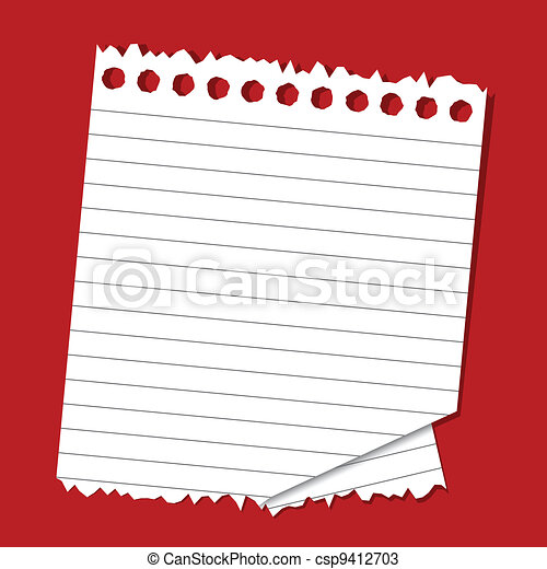 Lined Paper - csp9412703