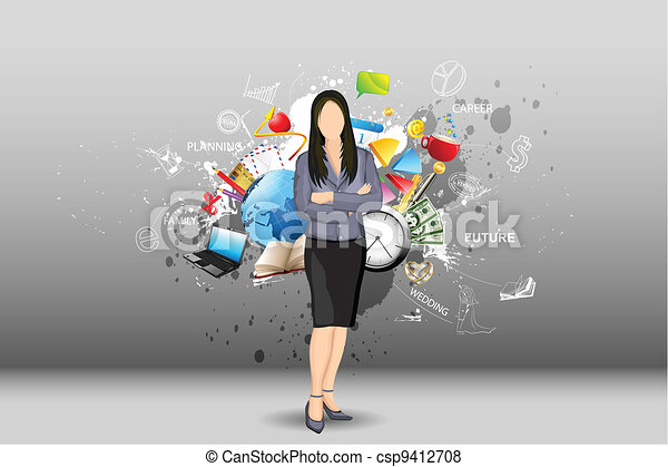 Life of Lady - csp9412708