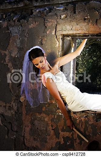 bizarre bridal scene - csp9412728
