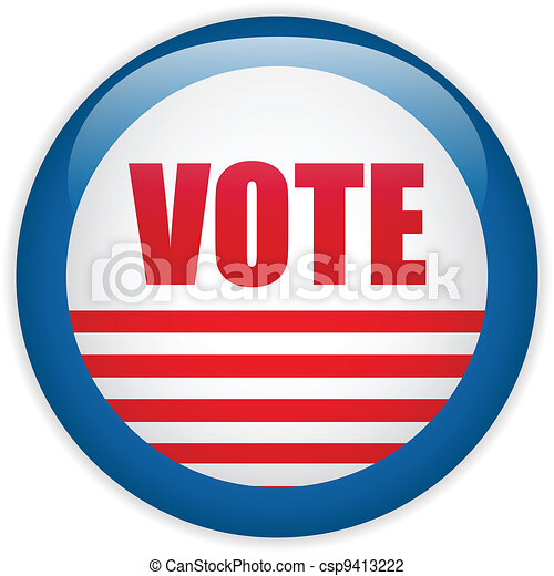 United States Election Vote Button. - csp9413222