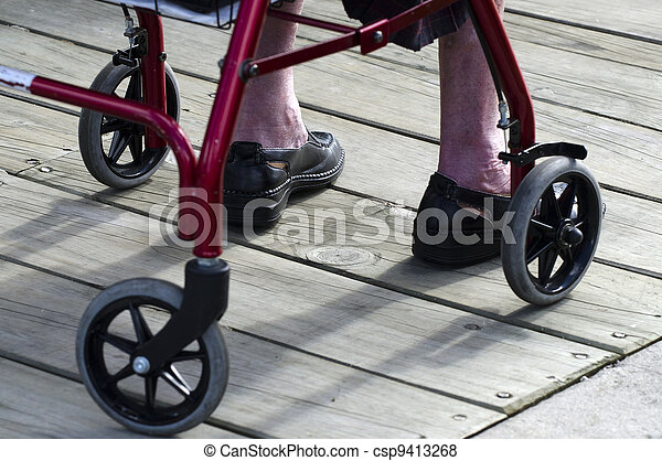 Concept Photo - Old People and Elderly Life - Wheelchair - csp9413268