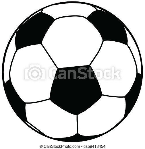 Soccer Ball Silhouette Isolation  - csp9413454