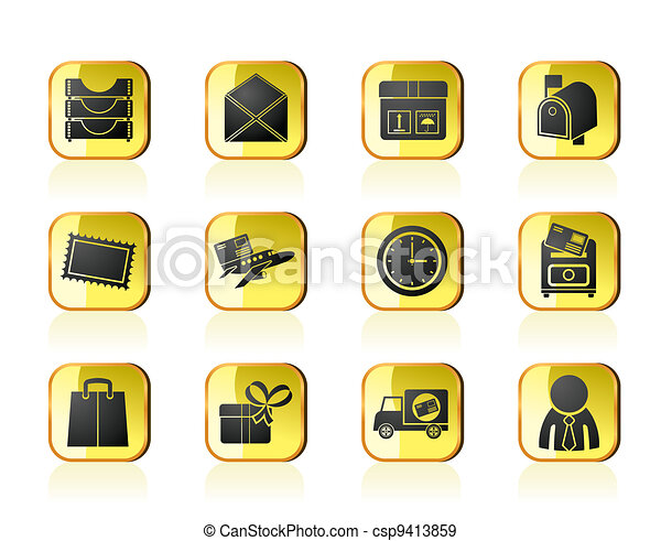 Post and correspondence icons - csp9413859