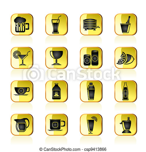 beverages and drink icons - csp9413866
