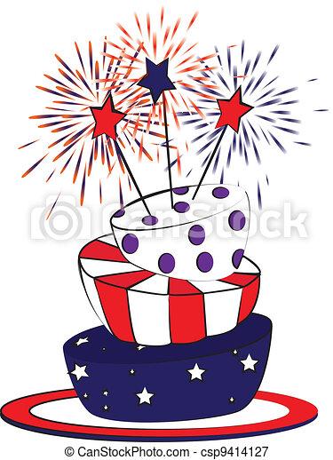 4th july cake - csp9414127
