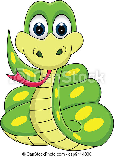 clipart vecteur de rigolote serpent dessin animé illustration