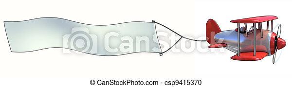 Blank aerial advertising - csp9415370