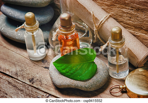 Vials with essential oils - csp9415552