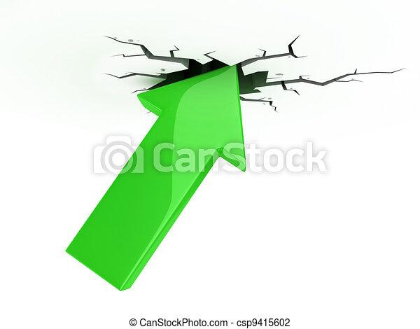 success, growth, profit 3d icon  - csp9415602
