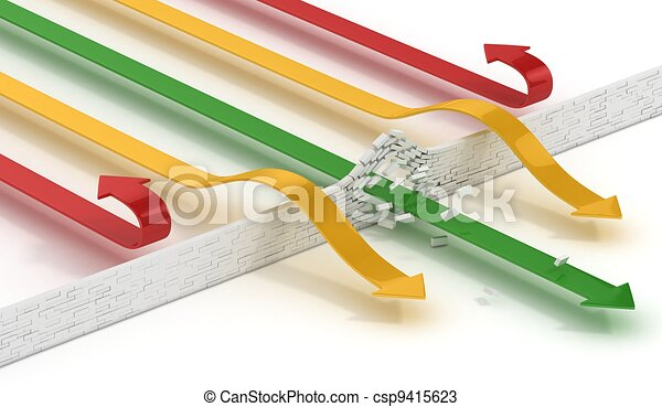 arrows breaking or passing wall - csp9415623