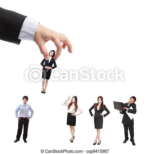 Human Resources concept - csp9415987