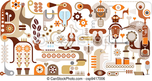 Coffee Factory - abstract vector il - csp9417006