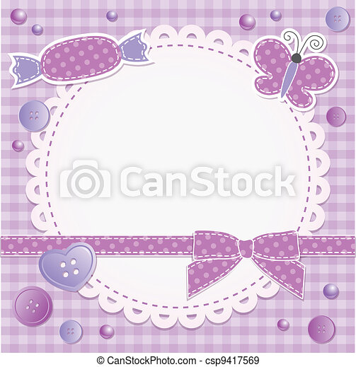 violet frame - csp9417569