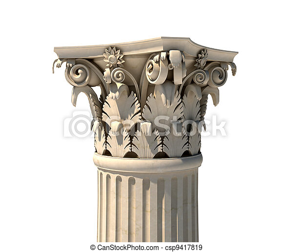 Corinthian column capital - csp9417819