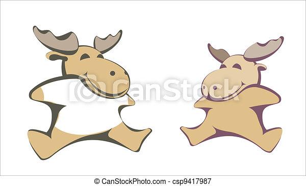 Vecror plush toy moose - csp9417987