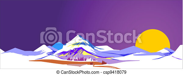 Dawn in the Mountains - csp9418079