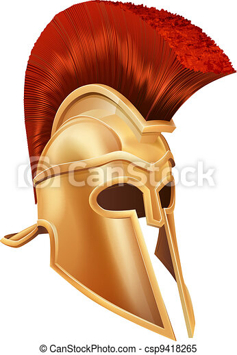 Trojan Helmet - csp9418265