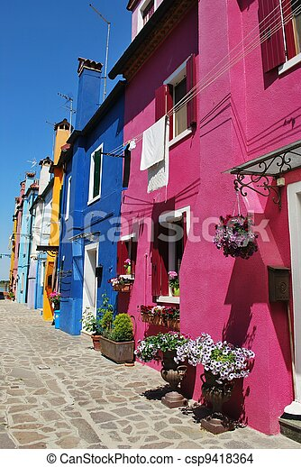 Colorful houses - csp9418364
