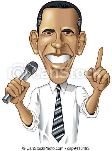Barack Obama Caricature - csp9418493