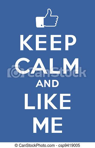 Keep calm and Like me - csp9419005