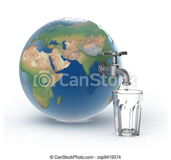 drinking water crisis   - csp9419374