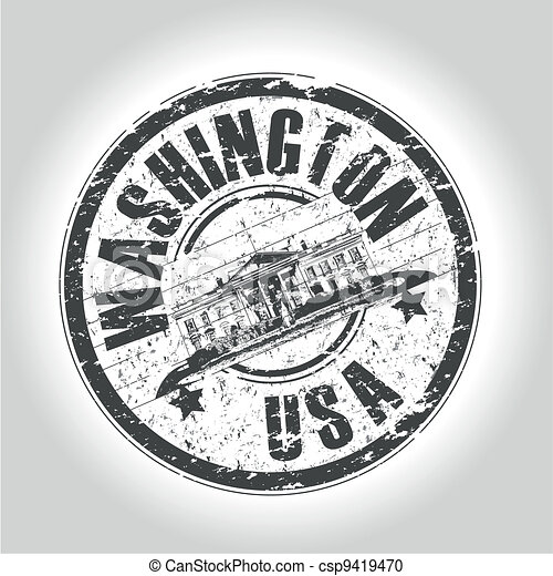 washington stamp - csp9419470