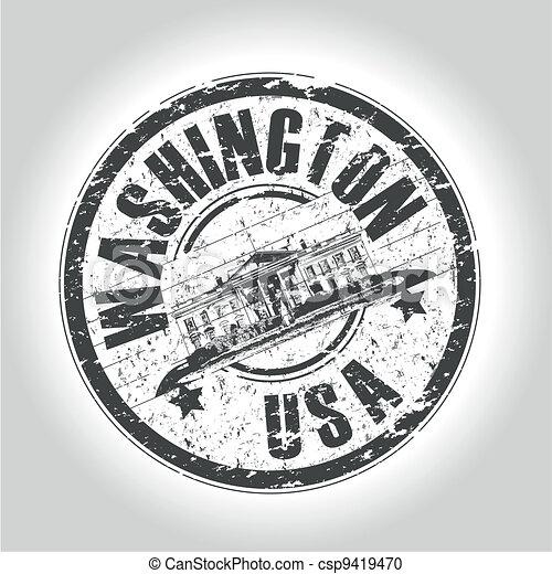 washington stamp - csp9419470