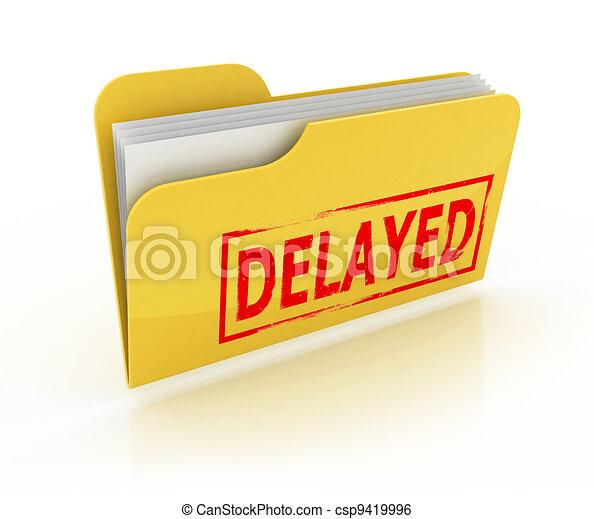 delayed folder icon  - csp9419996