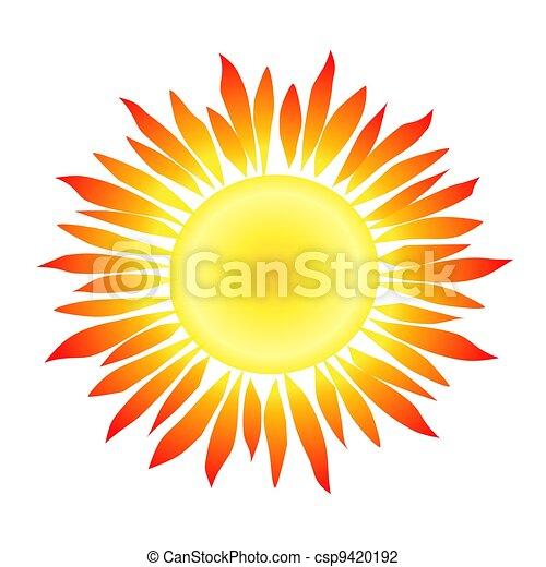 Sun with Flame-like Rays - csp9420192