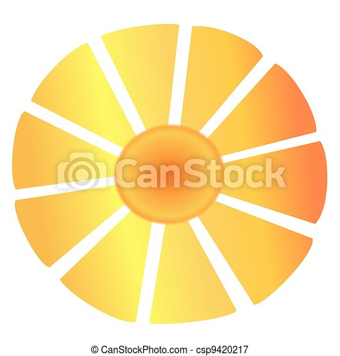Sun with Large Abstract Rays - csp9420217