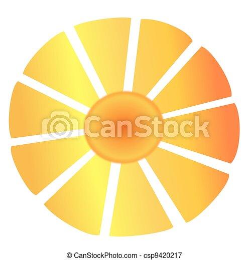 Stock de ilustraciones de grande sol resumen rayos