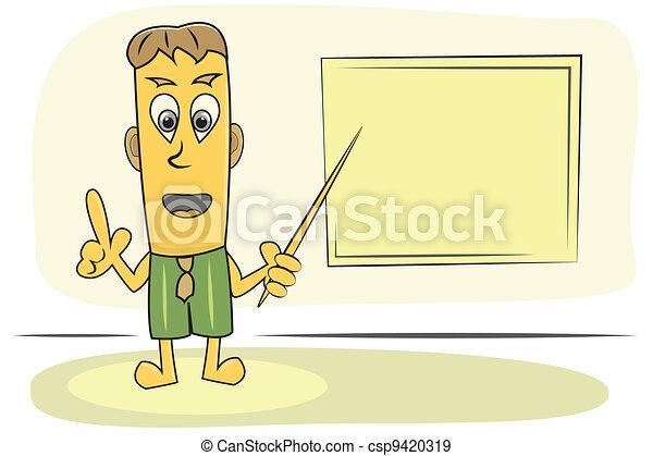 teacher explain lesson - csp9420319