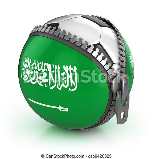Saudi Arabia football nation  - csp9420323