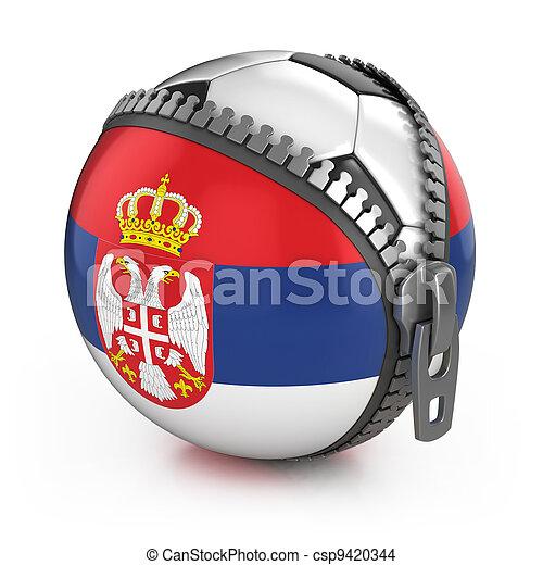 Serbia football nation - csp9420344