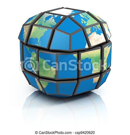 global politics, globalization  - csp9420620