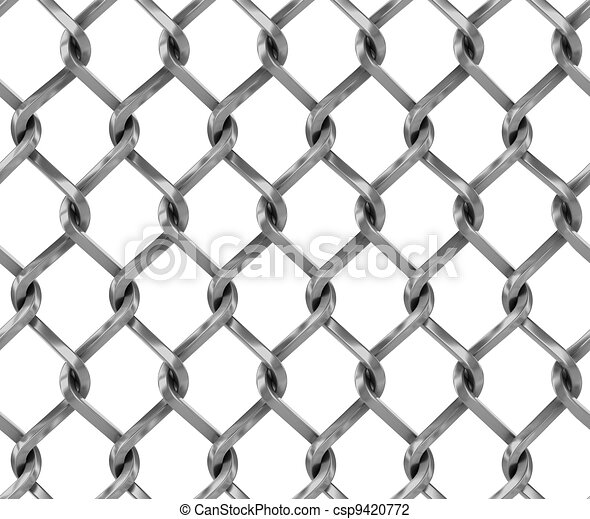 Seamless chainlink fence - csp9420772