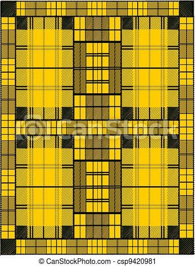 clipart de jaune moutarde tartan plaid illustration. Black Bedroom Furniture Sets. Home Design Ideas