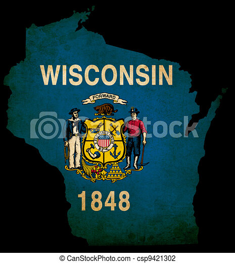 USA American Wisconsin State Map ou - csp9421302