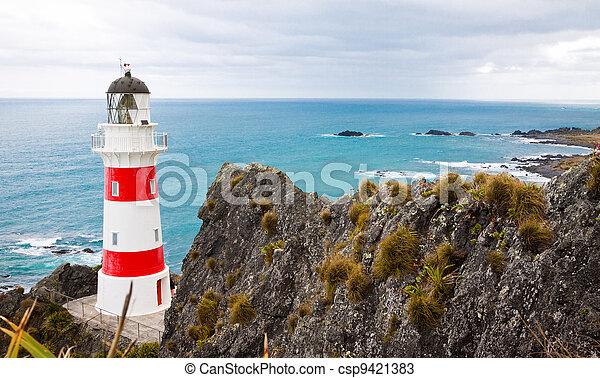 Lighthouse at Cape Palliser, New Zealand - csp9421383