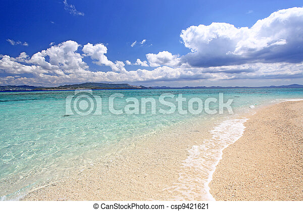 Okinawa, paradise, tropical, sea - csp9421621