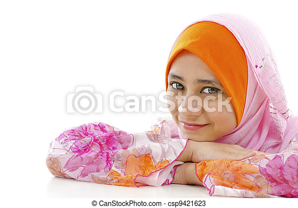 Pretty Muslim Woman - csp9421623