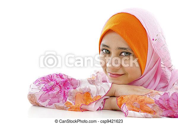 Pretty Muslim Woman - csp9421623