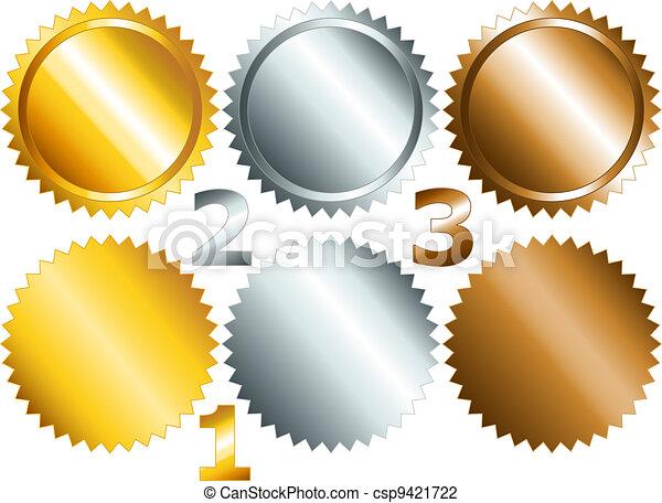 Games medals or labels-set1 - csp9421722