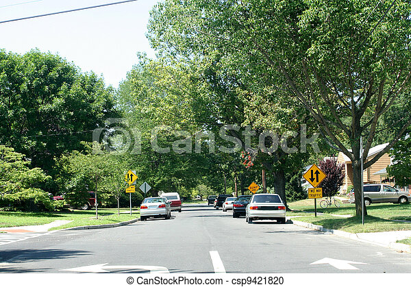 Residential Street 1 - csp9421820