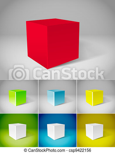 Color plaster cubes collection - csp9422156
