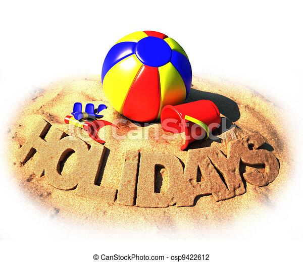 summer holidays poster - csp9422612