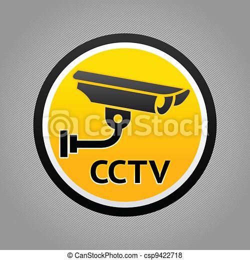 Surveillance camera warning pictogram - csp9422718