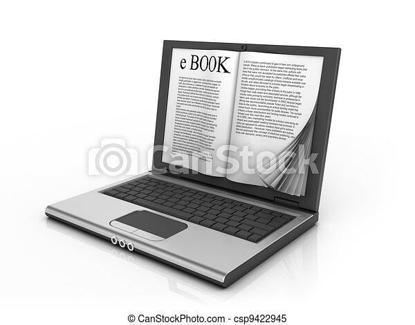 e-book 3d concept   - csp9422945
